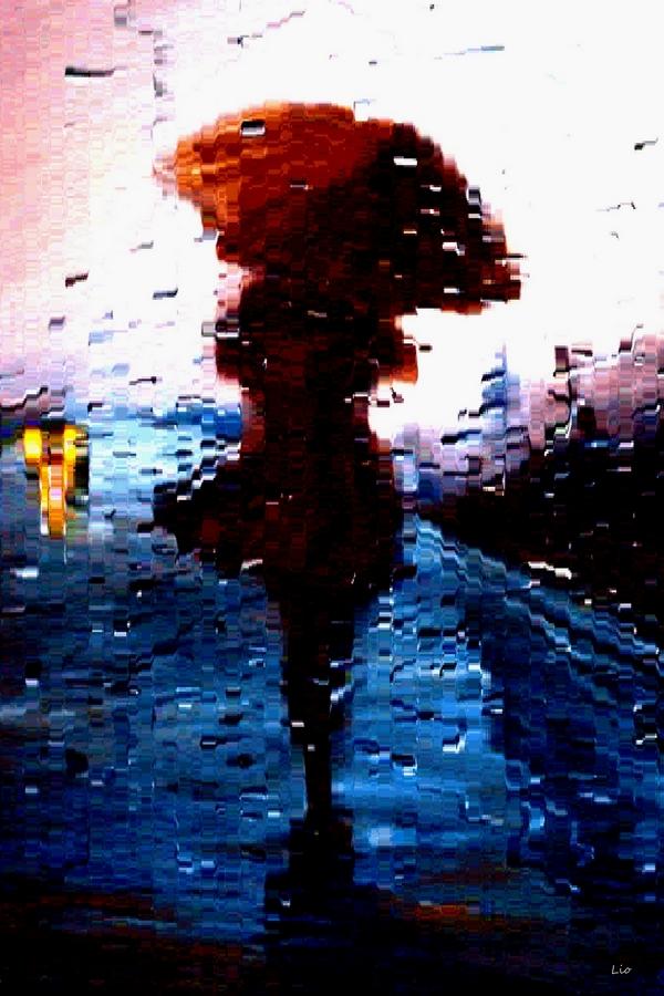 Danse avec la pluie Lio Photopeintures